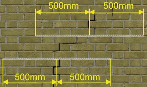 Scheuren herstellen in uw muur